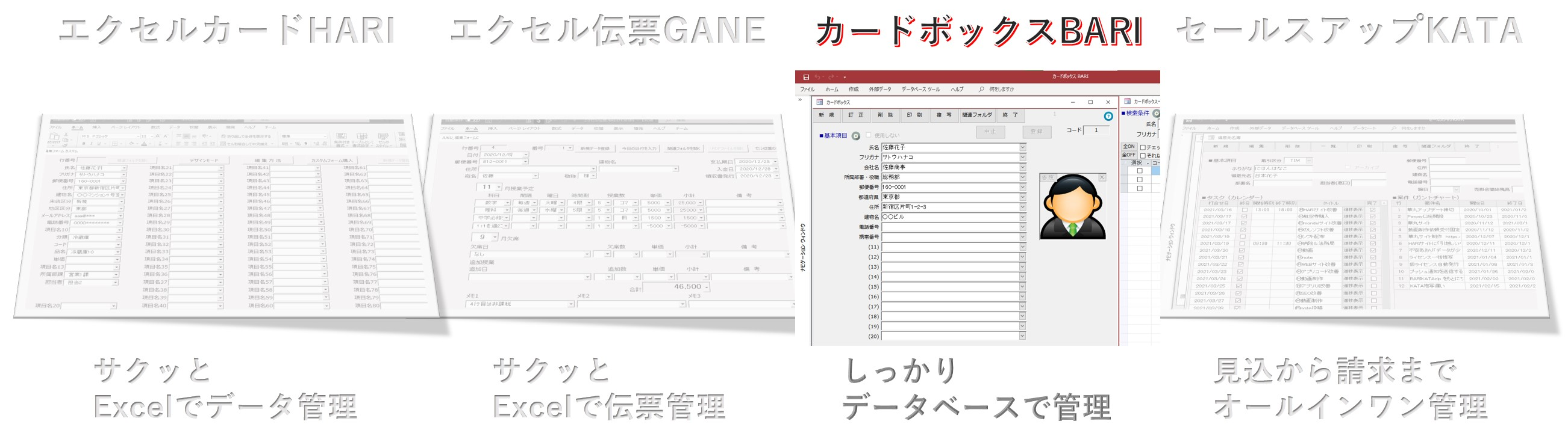 カードボックスBARI,Excel連携,Access連携